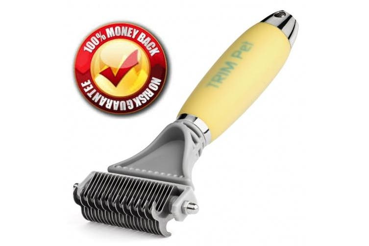 Trim Pet Dematting Comb with 2 Sided Professional Grooming Rake for Cats & Dogs