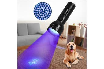 (51 LED Light) - Pet Urine Detector Light Handheld UV Black Light Flashlight Portable Dog Cat Urine Carpet Detector Super Bright 51 LED UV Light for Pet Stain, Minerals, Automotive Leak Detection or Scorpion Hunting