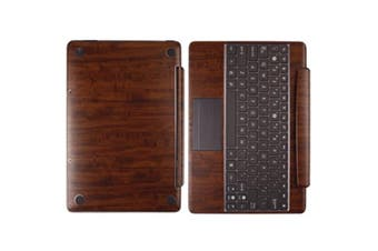 Skinomi Skin Dark Wood Cover for Asus EEE Pad Transformer Prime TF201 Keyboard