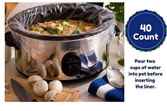 Large Slow Cooker Liners Fits Up To 7-7.6l Crock Pots 40 Ct
