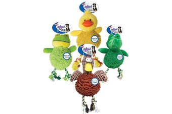 (2 Assorted Animals) - Ethical Pets Gigglers Chicken Dog Toy Assorted