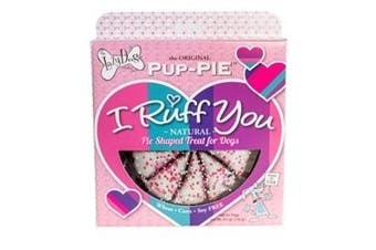 "Valentine's Day Pup-Pie ""I Ruff You"" Pie Shaped Dog Treat"