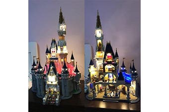 New Design Disney Castle Tower Lighting Kit for Lego 71040 (lego set not incuded)