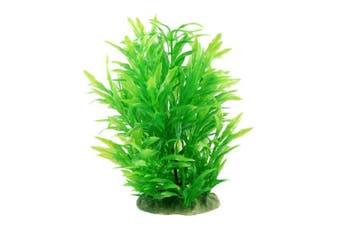 (23cm  Green) - CNZ Aquarium Decor Fish Tank Decoration Ornament Artificial Plastic Plant Green