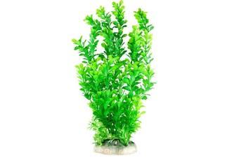 (36cm ) - CNZ Aquarium Decor Fish Tank Decoration Ornament Artificial Plastic Plant Green