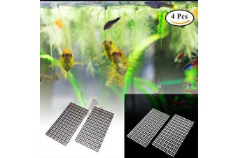 (mix) - Ioffersuper 4 Pcs Grid Divider Tray Egg Crate Louvre Aquarium Fish Tank Bottom Isolation