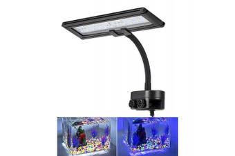 (30 Leds, 13 watt) - Hygger Blue White LED Aquarium Lights Clip on Fish Tank Lamp Lighting for Saltwater Freshwater with Gooseneck Clamp