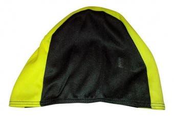 (One Size, gelb/schwarz) - BECO Fabric Cap Swimming Cap, Unisex, Stoffhaube