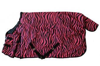 (84, Pink Zebra Print) - AJ Tack Wholesale 600D Medium Weight Horse Turnout Blanket Water Proof Ripstop