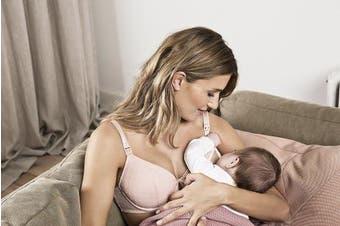 (36D, Light Rose) - Noppies Women's Maternity Damen Nursing Bra Padded Mesh
