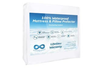 (Queen) - 100% Waterproof Mattress Protector and 2 Free Pillow Protectors by Everlasting Comfort. Complete Set, Hypoallergenic, Breathable Membrane (Queen)