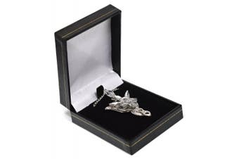 LOTR Lord Of The Rings Hobbit Arwen EVENSTAR Silver Tone Necklace Crystal Pendant Prop Replica in Blue Gift Box