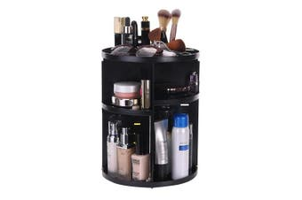 (Black) - ATPWONZ Makeup Organiser 360-Degree Rotating Cosmetic Tray Multi-Function Storage Box 8 Layers for Makeup and Accessories Black