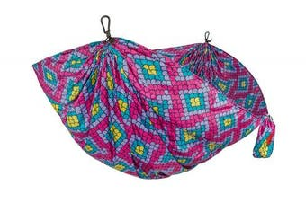 (Bubblegum Scales) - Grand Trunk Double Parachute | Compact Portable Nylon Print Hammock with Carabiners and Hanging Kit