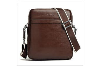(brown) - AIAIMEI Man Bag Small Mens Crossbody Messenger Bag Men's PU Leather Shoulder Bag Handbag Satchel Bag for Men fits for iPad browm