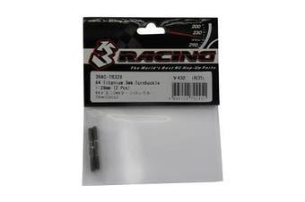 3Racing #3RAC-TR328 64 Titanium 3mm Turnbuckle - 28mm (2 Pcs) for 3Racing All
