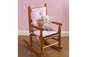 (Minky Pink) - Babydoll Bedding Heavenly Soft Childs Rocking Chair Cushion, Minky Pink