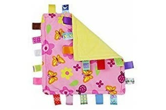 INCHANT Newborn Baby Security Tag Blanket Colourful Warm Soothing Towel Child Soft Security Blankie, 2 pcs