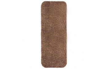 (Runner 29x58, Brown) - Mud Rug Runner, Absorbent Dirt Trapping Machine Washable, Non Slip Indoor Mat, 29 W x 58 L - Brown