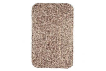 (Large 29x39, Tan) - Large Mud Rug, Absorbent Dirt Trapping Machine Washable, Non Slip Indoor Mat, 29 W x 39 L - Tan