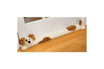 Bits and Pieces - Plush Doggie Door Draught Stopper - Door and Windrow Breeze Guard - Keep Heat in and Cold Out