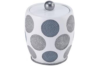 (Jars, White) - Avanti Linens 13870K Wht Dotted Circles Shower Jar, White