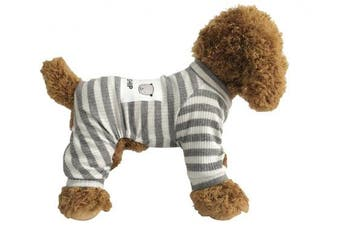 (M, Grey) - EastCities Dog Clothes for Small Dogs Puppy Pyjamas Outfit