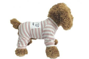 (M, Pink) - EastCities Dog Clothes for Small Dogs Puppy Pyjamas Outfit
