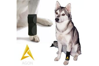 (Small/Medium) - Agon Dog Canine Front Leg Brace Paw Compression Wraps With Protects Wounds Brace Heals and Prevents Injuries and Sprains Helps with Loss of Stability caused by Arthritis