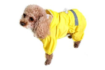 (Small, Yellow) - Alfie Pet by Petoga Couture - Willis Rainy Days Waterproof Raincoat (for Dogs and Cats)