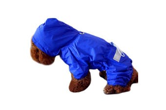 (Small, Blue) - Alfie Pet by Petoga Couture - Willis Rainy Days Waterproof Raincoat (for Dogs and Cats)