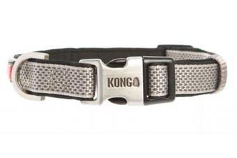 (Large, Grey) - KONG Comfort Neoprene Padded Dog Collar by Barker Brands Inc.
