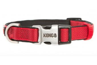 (Large, Red) - KONG Comfort Neoprene Padded Dog Collar by Barker Brands Inc.