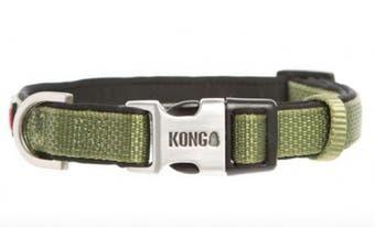 (Medium, Green) - KONG Comfort Neoprene Padded Dog Collar by Barker Brands Inc.