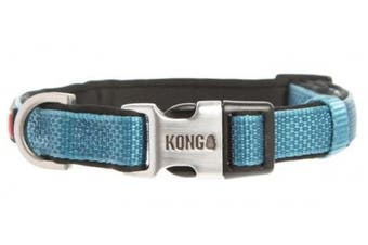 (XL, Blue) - KONG Comfort Neoprene Padded Dog Collar by Barker Brands Inc.