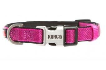 (Medium, Pink) - KONG Comfort Neoprene Padded Dog Collar by Barker Brands Inc.