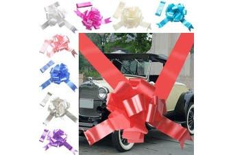 (Red, 3 Bows 7 metres Ribbon) - TtS 3 Bow 7 metres Ribbon Wedding Car Ribbon Decoration Kit Wrapping Large Bow Red