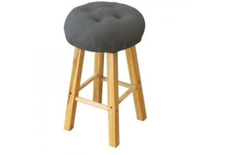 (Blue Grey) - 32cm Round Padded Bar Stool Cover Cushion, Suitable For 30cm - 33cm Wooden Stools, Super Comfortable to Relieve Pressure, Oil and Water Resistant, With Ties to Stay On