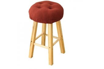 (Red) - 32cm Round Padded Bar Stool Cover Cushion, Suitable For 30cm - 33cm Wooden Stools, Super Comfortable to Relieve Pressure, Oil and Water Resistant, With Ties to Stay On