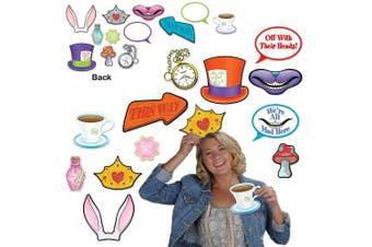 (Photo Fun) - Beistle 54772, 24 Piece Alice In Wonderland Photo Fun Signs, 10cm - 25cm