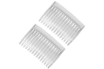2x Clear Stylish Side Hair Combs