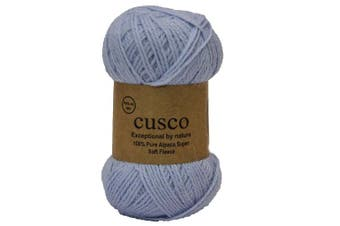 (Baby blue) - Alpaca Select CUSCO Fine 4ply Knitting wool yarn Colour 35 Baby Blue