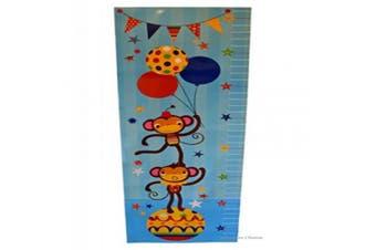 Kids Peel & Stick Circus Monkeys Decal Mural Wall Sticker Growth Height Chart
