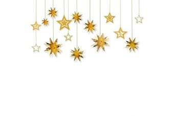 (Gold) - Glitter Twinkle Star Hanging Garland - Sparkly Paper Five-pointed Bunting Banner for Birthday Party, Baby Shower, Wedding, Festival Home Decoration, Gold, 13 pcs