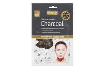 (1 Mask) - Beauty Formulas Detoxifying Bubble Mask with Activated Charcoal (1 Mask)