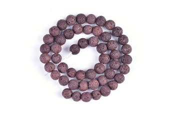 """(8mm, Coffee) - 8mm Lava Rock Natural Stone Loose Beads for Jewellery Making Spacer Beads 15""""--48pcs/strand (8mm, Coffee)"""