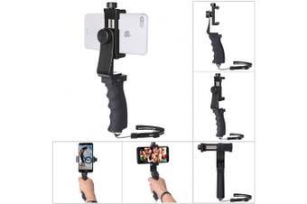 (Handle Grip) - Phone Hand Grip Holder, Fantaseal Smart Phone Handle Handheld Stabiliser Phone Holder Support Selfie Stick Compatible for iPhone XS X 8+ 8 7+ 7 6S+ 6S 6+ 6 Samsung etc Mobile Phone Stablizer