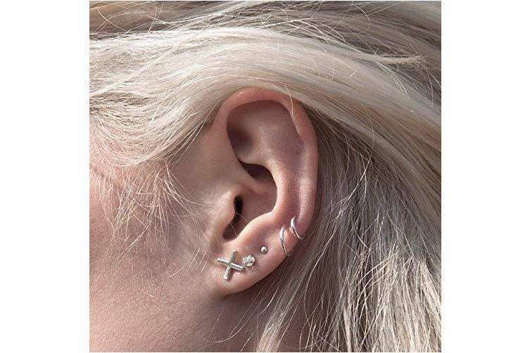 6mm I Love Rose Gold Fake Nose Ring Septum Ring Hoop Cartilage