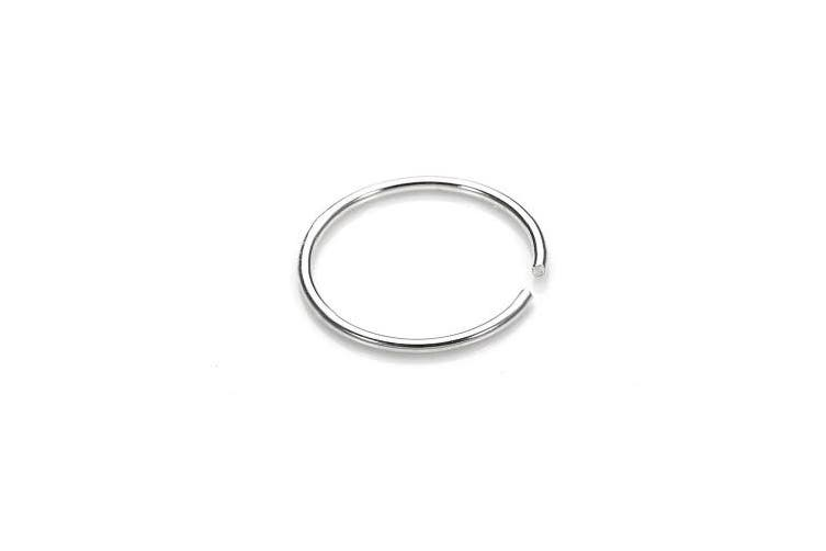 8mm I Love Silver Fake Nose Ring Septum Ring Hoop Cartilage Tragus Helix Small Thin Piercing Daith Matt Blatt