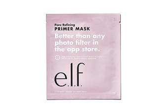 e.l.f. Primer Sheet Mask - primes the skin for makeup application while also helping to minimise pores and brighten skin